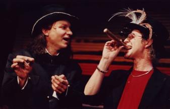 Med Ulf Eklund i Mutter Garage 1997. Regi Bengt Järnblad.