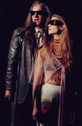 Med Anna Petterson i Fars Garage 1996. Klara Nätter.